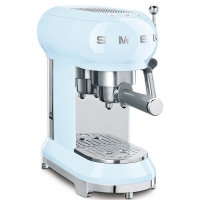 SMEG Retro-Style Espresso-Kaffeemaschine pastellblau ECF01PBEU
