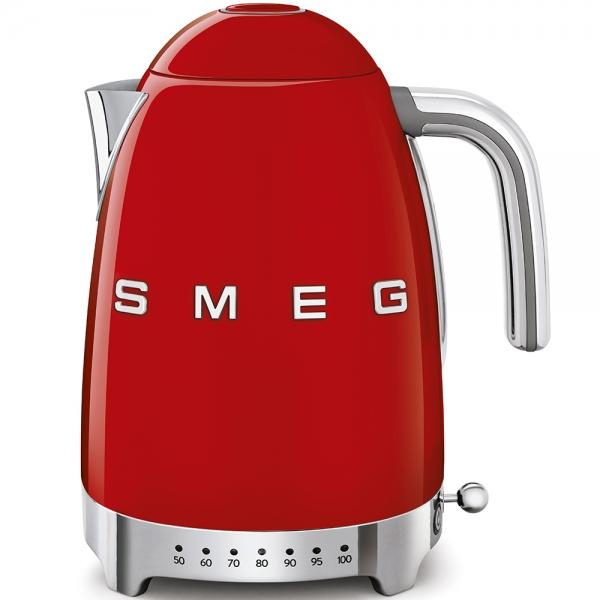 SMEG Retro-Style Wasserkocher variabler Temeratursteuerung 50er Jahre rot KLF04RDEU