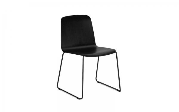 Normann Copenhagen Just Stuhl Sitz Esche schwarz / UG Stahl pulverbeschichtet schwarz