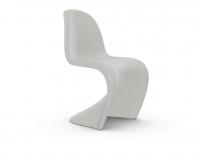 Vitra Panton Chair weiß (neue Höhe) Freischwinger-Stuhl