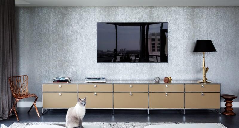 USM Haller Sideboard TV-HiFi-Möbel USM beige