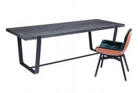 JANUA Möbel Tisch BB 11 Clamp Eiche geköhlt Kettensägenstruktur UG: tiefschwarz