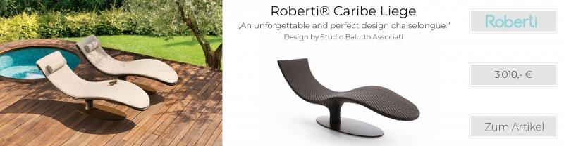 Roberti® Caribe Chaise-Longue Gartenliege Sunloom-Geflecht chocolate