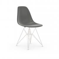 Vitra Eames Plastic Side Chair DSR (neue Höhe) granitgrau UG: weiss, pulverbeschichtet