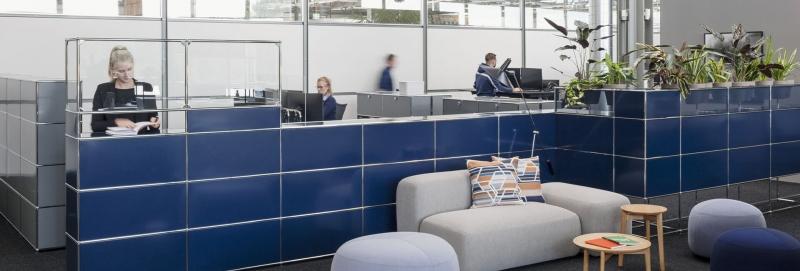 USM Haller Pflanzenwelten im Empfangbreich von Büros