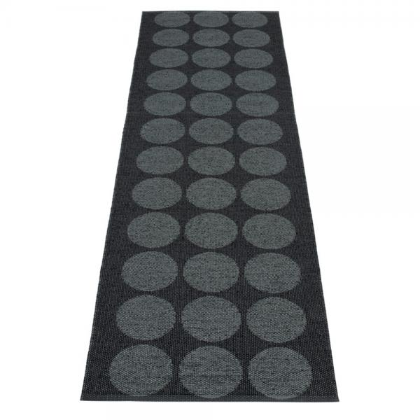 Pappelina Hugo Black metallic 70x240 Teppich & Badvorleger schwarz