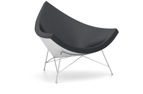 Vitra Coconut Chair Sessel Leder nero