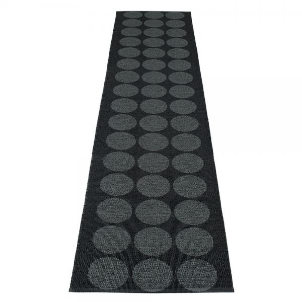 Pappelina Hugo Black metallic 70x400 Teppich & Badvorleger schwarz