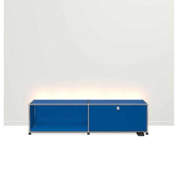 USM Haller E TV/Hi-Fi-M?bel mit dimmbarem Licht enzianblau