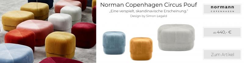 Normann Copenhagen Circus Pouf Sitzhocker Verlours