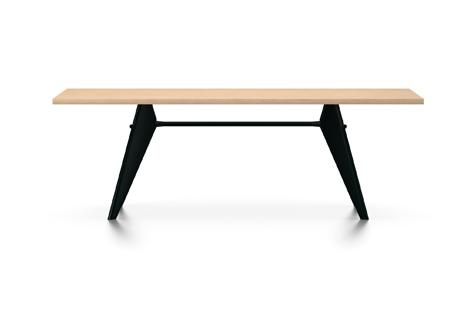 Vitra Prouve EM Table Esstisch Furnier Eiche natur 220 cm natur/tiefschwarz