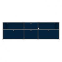 USM Haller Metallmöbel, individuell konfiguriert, B: 200 cm / H: 64 cm / T: 50 cm
