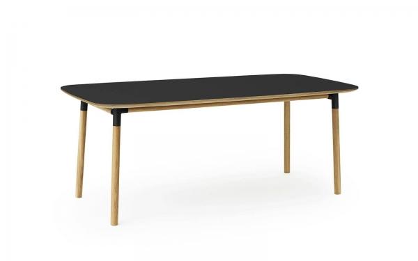 Normann Copenhagen Form Esstisch 200 x 95 cm UG: Eiche, natur / TP: Laminat, schwarz