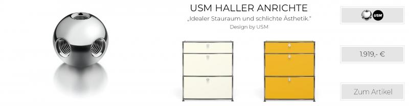 USM Haller Highboard / Anrichte 2 Klapptüren unten, 1 Schublade schmal oben