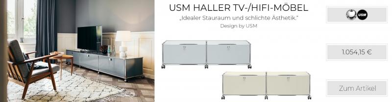USM Haller TV-/HiFi-Möbel USM mattsilber