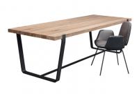 JANUA Möbel Tisch BB 11 Clamp Eiche geräuchtert weiss roheffekt / gebürstet UG: tiefschwarz