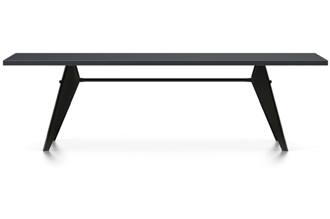 Vitra Prouve EM Table Esstisch HPL 260 cm asphalt/tiefschwarz