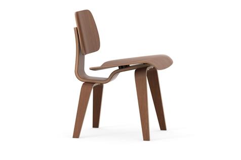Vitra Plywood Group DCW Stuhl Nussbaum schwarz pigmentiert