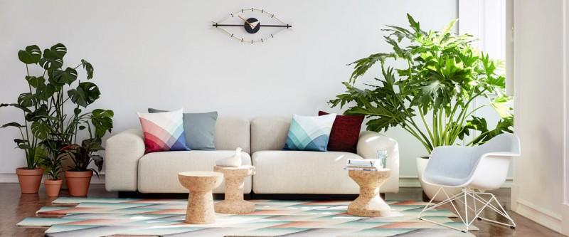 Vitra Soft Modular Sofa Stoffsofa mit Eames Armchair LAR Loungestuhl