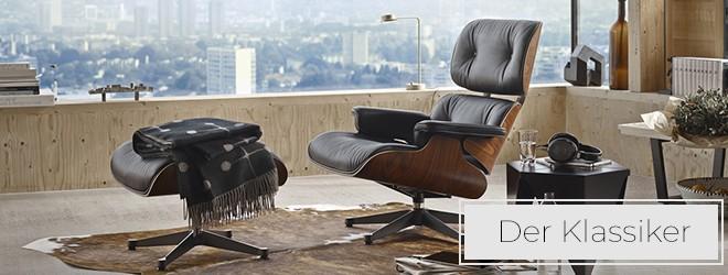 Entdecken Sie den Vitra Lounge Chair und Ottoman