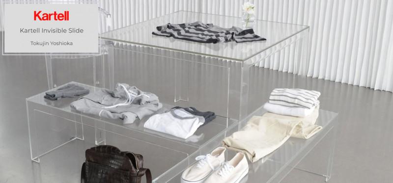 Kartell Invisible Slide Sitzbank & Tisch japanisches Designmöbel