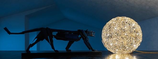 Leuchten - Catellani und Smith Fil de Fer Bodenleuchte aus Draht