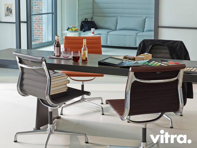 Vitra Aluminium Chair Besprechnungstisch