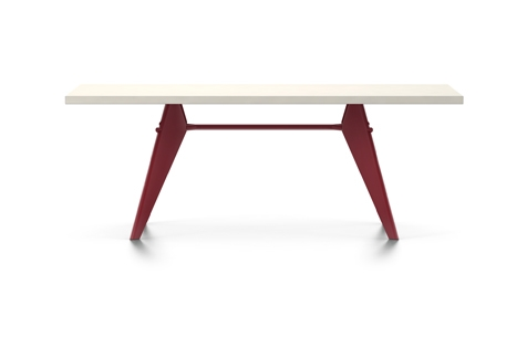 Vitra Prouve EM Table Esstisch HPL 200 cm elfenbein/japanese-red