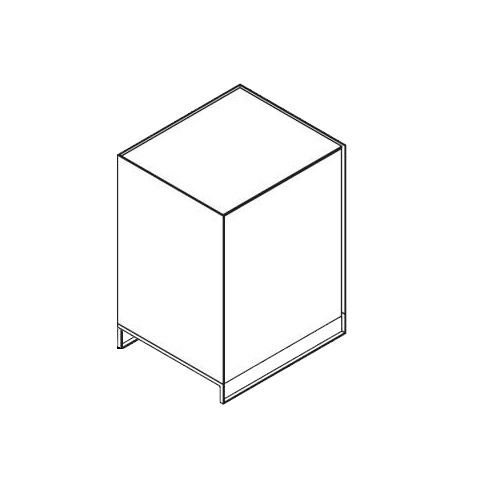 Möller Design LEAN BOX K601ET80 Kommode mit Tür & Fachboden Lack matt