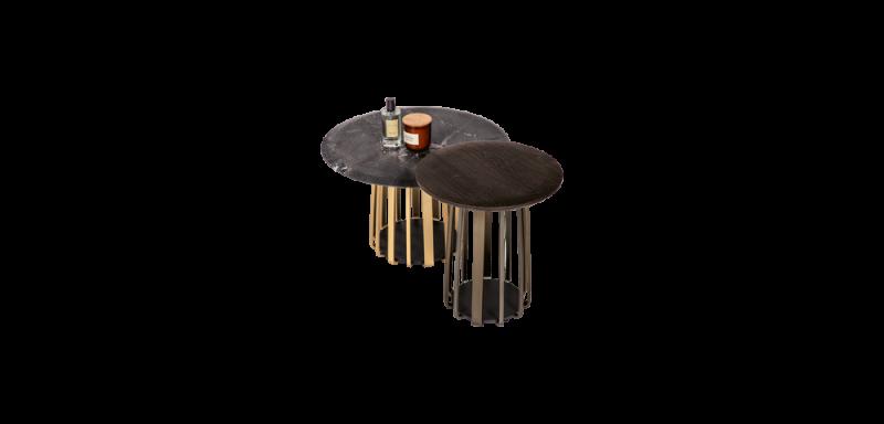Janua Moebel BC 09 Basket Eiche geräuchert geölt, Aluminium eloxiert