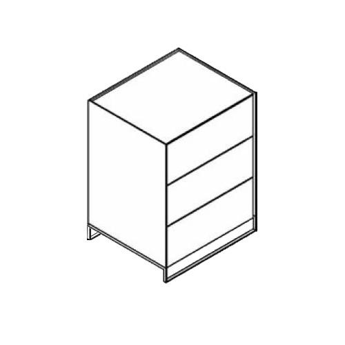 Möller Design LEAN BOX K603S Kommode mit 3 Schubkasten Lack matt
