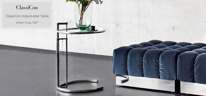 Classicon Adjustable Tabel höhenverstellbarer Beistelltisch im Bauhaus Design