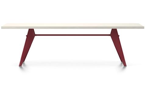 Vitra Prouve EM Table Esstisch HPL 260 cm elfenbein/japanese-red