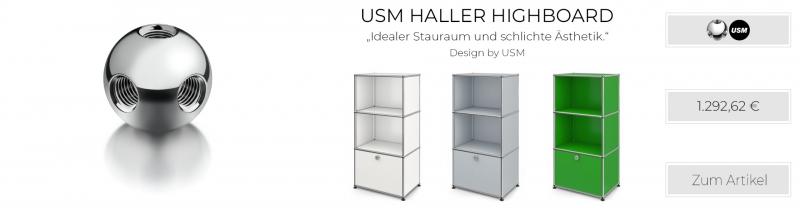 USM Haller Anrichte / Highboard mit Schublade & offenen Regalen