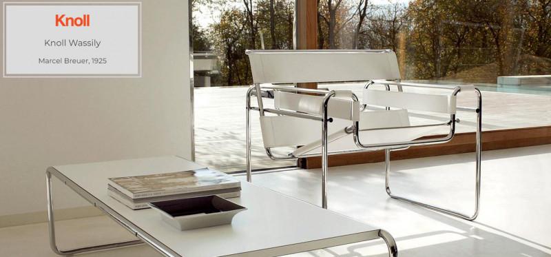 Knoll Wassily Chair Stuhl von 1925 in Kernleder