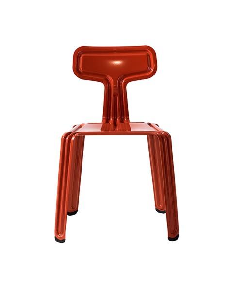 Nils Holger Moormann Stuhl Pressed Chair richtiges rot