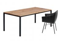 JANUA Möbel Esstisch S600 cpsdesign Eiche Altholz natur geölt UG: tiefschwarz