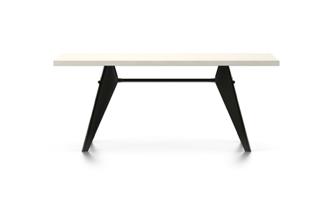 Vitra Prouve EM Table Esstisch HPL 180 cm elfenbein/tiefschwarz