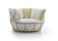 Roberti® Gravity Outdoor-Loungemöbel mit Sitz- & Rückenkissen Ø 133 × H 87