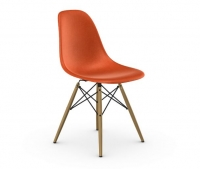 Vitra Eames Fiberglass Side Chair DSW orange UG: Ahorn gelblich