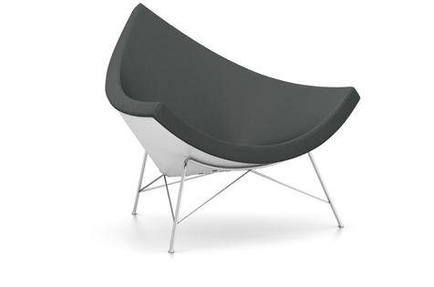 Vitra Coconut Chair Sessel Hopsak (Stoff) dunkelgrau