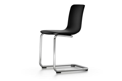 Vitra HAL Cantilever Freischwinger Stuhl schwarz UG: chrom