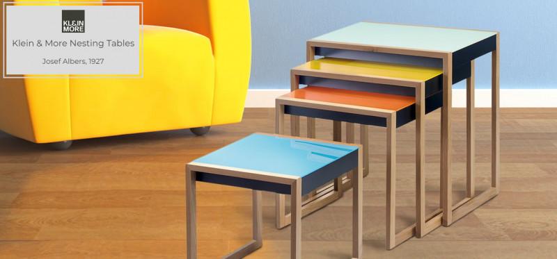 Klein & More Josef Albers Nesting Tables Beistelltische Bauhaus Stil
