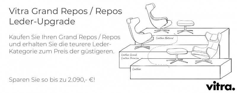 Vitra Grand Repos oder Repos Leder-Upgrade Kampagne Winteraktion