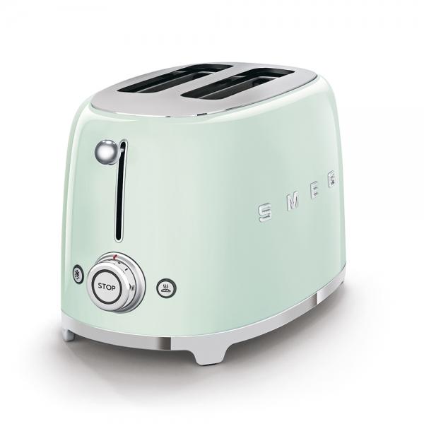 SMEG Retro-Style 2-Scheiben-Toaster pastellgruen TSF01PGEU