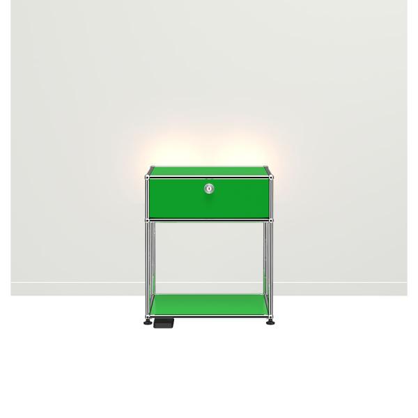 USM Haller E Nachttisch mit dimmbarem Licht USM gr?n
