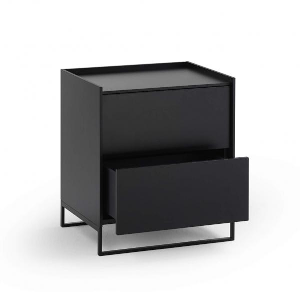 Möller Design LEAN BOX K502S Kommode mit 2 Schubkasten Lack matt
