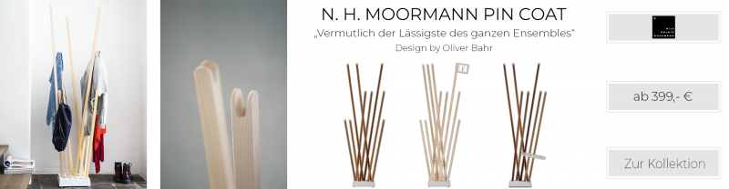 Nils Holger Moormann Garderobenständer Pin Coat Variante 1 Esche natur geölt