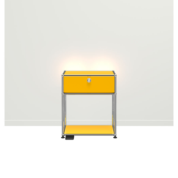 USM Haller E Nachttisch mit dimmbarem Licht gelb