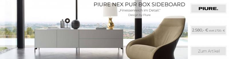 Piure NEX PUR BOX Sideboard 240 x 63 x 48 cm weiss matt
